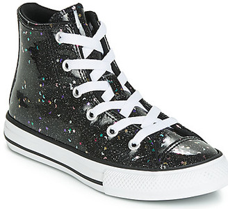 Converse CHUCK TAYLOR ALL STAR GALAXY GLIMMER HI girls's Shoes (High-top Trainers) in Black