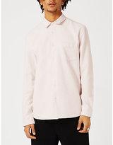 Topman Topman Ltd Regular-fit Pilled Cotton Shirt