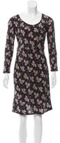 Stella McCartney Leaf Print Silk Dress w/ Tags