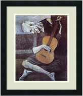 Amanti Art Framed Art Print 'The Old Guitarist, 1903' by Pablo Picasso, Outer Siz