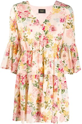 Liu Jo Flared Floral-Print Dress