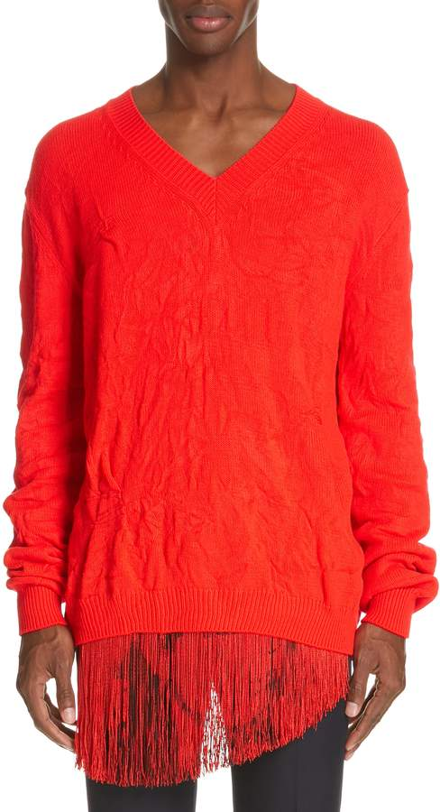 Calvin Klein Cable Knit V-Neck Sweater