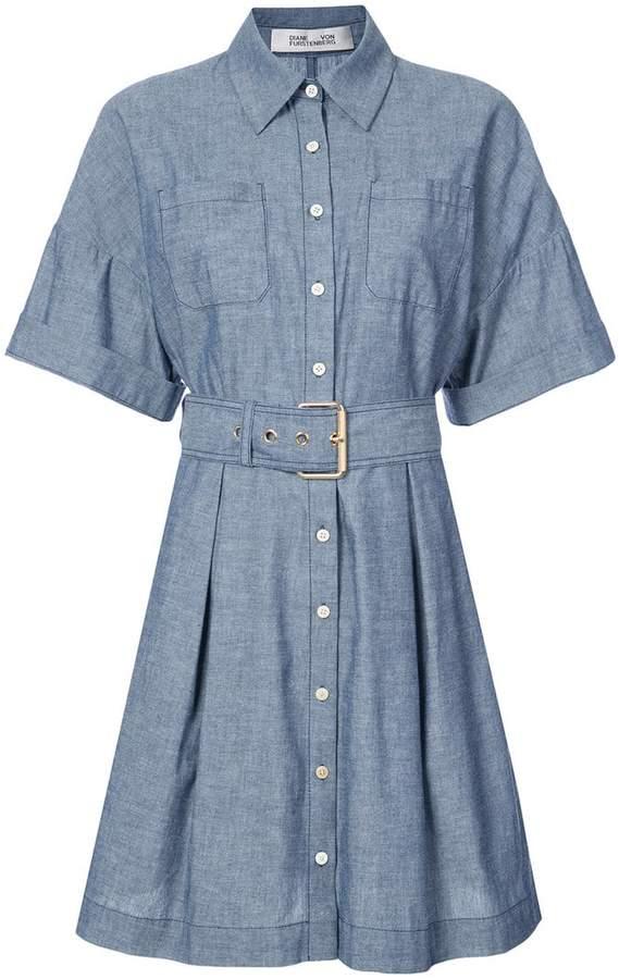 Diane von Furstenberg belted chambray dress