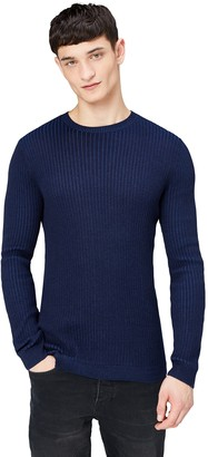 Find. Men's Ribbed Knitted Sweater