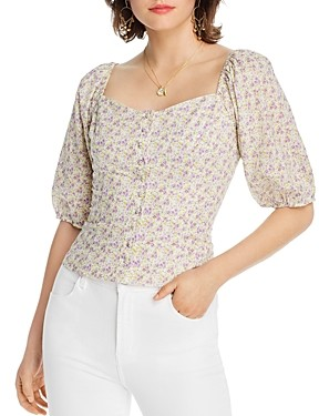 Sally Wu Designs Lini Lacie Floral Print Blouse - 100% Exclusive
