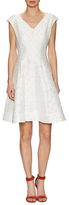 Julia Jordan Embroidered Polka Fit And Flare Dress