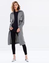 Tiffany Gingham Trench Coat