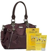 Storksak Bundle -3 Items Olivia Diaper Bag Nylon - Mulberry & Bella B Honey Bum 2 oz & Bella B Babywipes 50 count