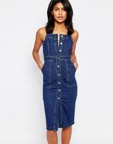 Warehouse Denim Pinny Dress