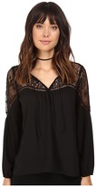 BB Dakota Ormond Lace Yoke Top