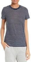 ATM Anthony Thomas Melillo Women's School Boy Stripe Linen Tee