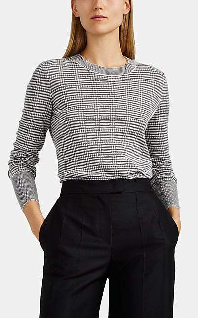 Giorgio Armani Women's Mixed-Knit Cashmere-Blend Sweater - Black
