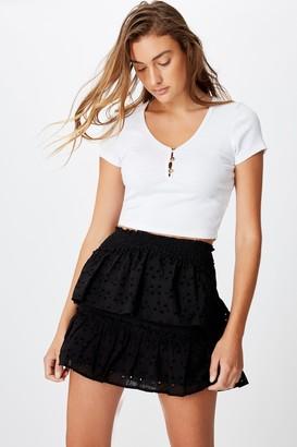Cotton On Ellie Broderie Mini Skirt