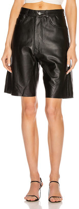Georgia Alice Margot Leather Short in Black | FWRD