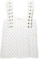 Paco Rabanne sequin embellished top - women - Calf Leather/Polyurethane/Brass - 36