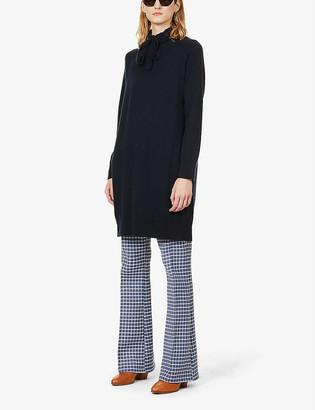 S Max Mara Pavia drawstring-collar wool and cashmere-blend jumper
