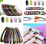 Stacy Adams 30pcs Colors Rolls Striping Nail Art Tape Random Mixed Decoration Stickers Line Tips