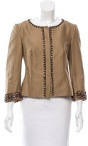 Alberta Ferretti Embellished Fitted Jacket