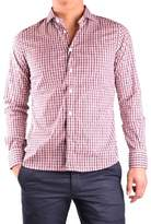 Peuterey Men's White/red Cotton Shirt.