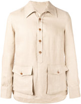 Lardini shirt jacket - men - Linen/Flax - 50