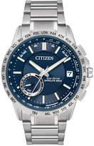 Citizen Men's Eco-Drive Satellite Wave World Time GPS Stainless Steel Bracelet Watch 44mm CC3000-89L