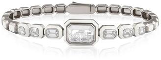 Moritz Glik Diamond and White Enamel Shaker Bracelet