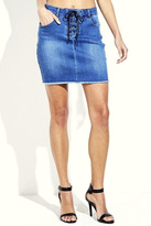 Simply Chic Lace Up Denim Skirt