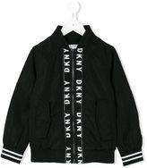 DKNY logo tape bomber jacket - kids - Polyester - 6 yrs
