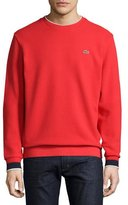 Lacoste Semi-Fancy Piqué Sweatshirt, Cherry Red/Navy Blue