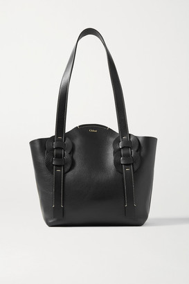 Chloé Darryl Small Braided Textured-leather Tote - Black