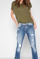 7 For All Mankind Josefina With Destroy In Vintage Air Light