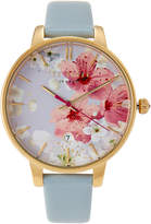 Ted Baker TE50377003 Gold-Tone & Light Blue Watch