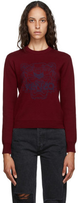 Kenzo Burgundy Tiger Sweater