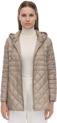 Max Mara 'S HOODED NYLON DOWN COAT