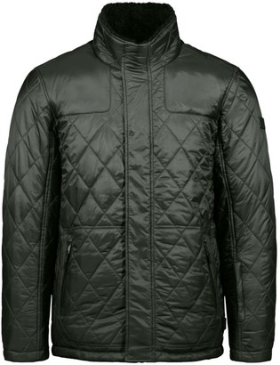 Tumi Quilted Faux Shearling-Lined Jacket