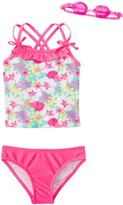 Jump N Splash Girls' Aloha Flower TwoPiece Swimsuit w/ Free Goggles (4-6X) - 8143028