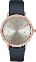 DKNY Women's Willoughby Navy Leather Strap Watch 38mm NY2546