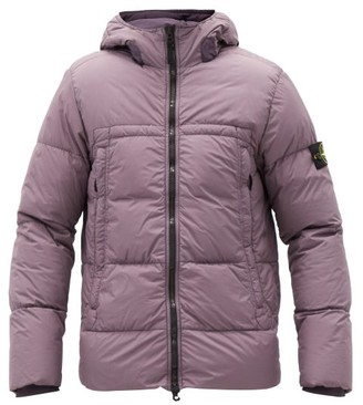 Stone Island Crinkle Reps Down-filled Shell Hooded Jacket - Purple