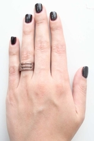 Luv Aj Short Cut-Out Ring in Copper Ox