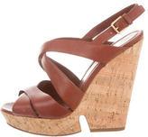 Saint Laurent Multistrap Wedge Sandals