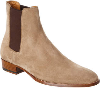 Saint Laurent Wyatt Suede Chelsea Boot