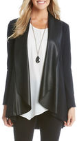 Karen Kane Drape Faux Leather Cardigan