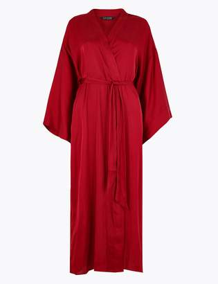 Rosie For AutographMarks and Spencer Satin & Lace Trim Long Dressing Gown