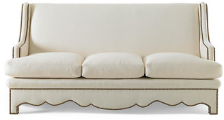 Bunny Williams Home Nailhead Sofa - Natural Linen