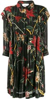 BA&SH floral print mini shirt dress