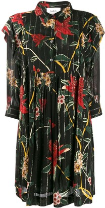 BA&SH Floral Print Mini Shirt Dress