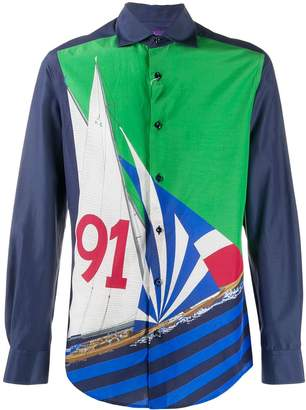 Ralph Lauren Purple Label graphic nautical print shirt