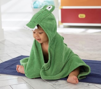 Pottery Barn Kids Alligator Baby Hooded Towel