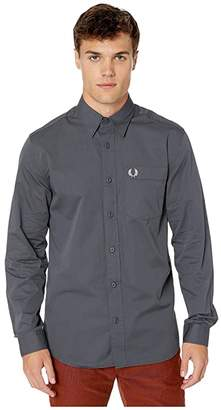 Fred Perry Button-Down Shirt (Charcoal) Men's Clothing