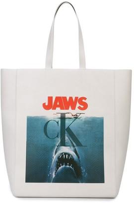 Calvin Klein JAWS print tote bag